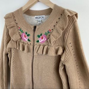 Wildfox Sweaters - Wildfox Bed of Roses Elliot Sweater Jacket Large
